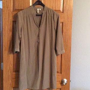Shirt dress, Olive, sz L